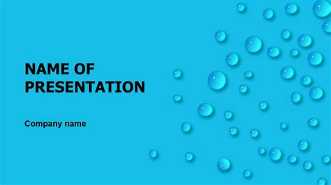 Download Free Rain Dew Powerpoint Template For Presentation Powerpoint Ppt Templates