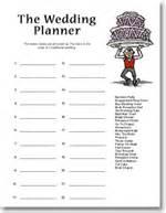 wedding planner shower game 171 bridal shower printable