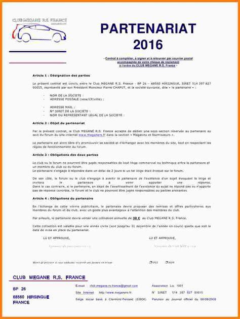 Demande De Partenariat Lettre 7 Contrat De Partenariat Exemple Lettre