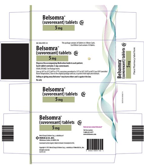 dailymed belsomra suvorexant tablet film coated