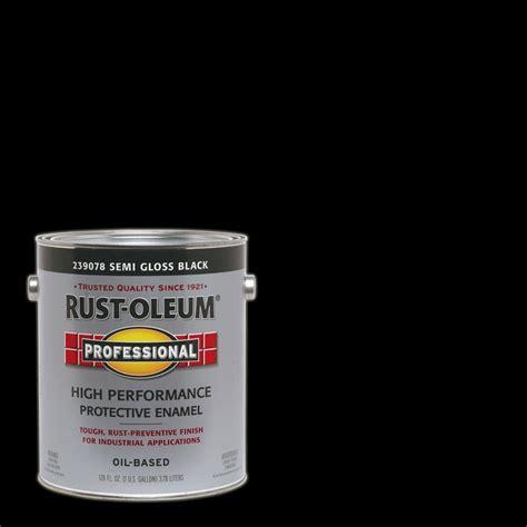 rust oleum professional 1 gal black semi gloss protective enamel interior exterior paint 2