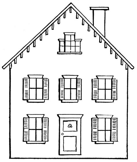 white house black house house black and white clipart images house wikiclipart