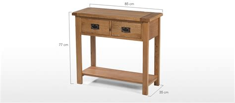 oak console rustic oak console table quercus living