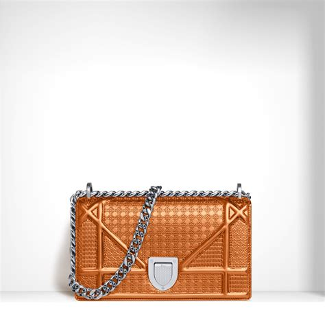 Diorama Classic Medium Flap Bag diorama and metallic perforated bags from pre fall 2015 spotted fashion