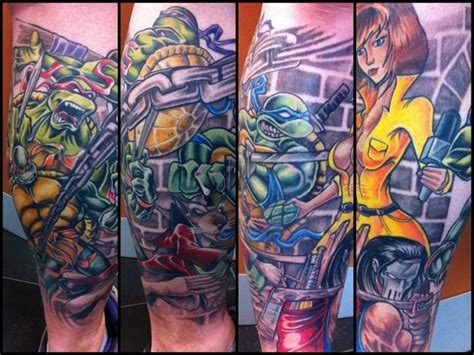 tmnt tattoos these are fans of the turtles and they