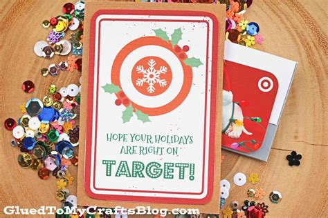 Target Gift Card Printable - right on target gift card printable glued to my crafts