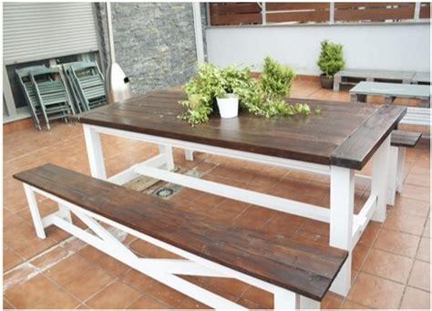 diy table bench alfresco ideas alma help centsational girl