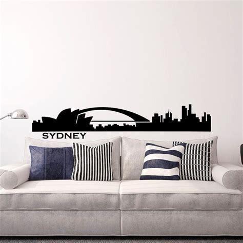 wall stickers sydney sydney skyline wall decal cityscape city silhouette australia