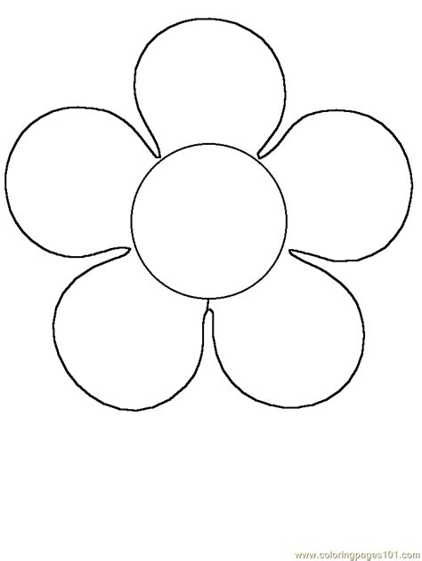 easy flower template simple flower template coloring home