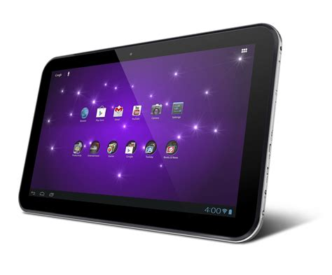 android tablet running toshiba unveils 13 3 inch android tablet pcworld