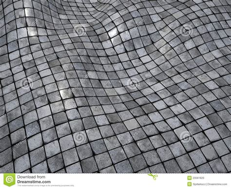 3d Render Wobble Mosaic Tile Floor Wall Surface Stock