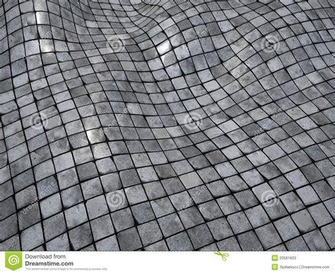 3d Render Wobble Mosaic Tile Floor Wall Surface Stock