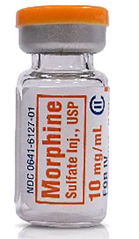 Morphine Sulfate Detox Centers by Morphine Sulfate Injection Single Dose Vial 1ml 10mg Ml