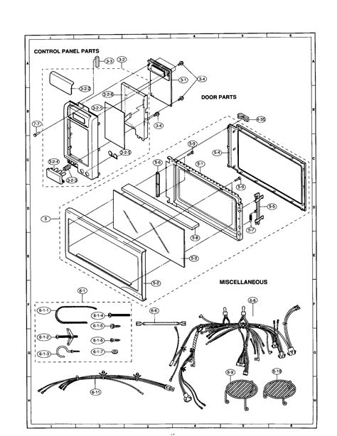 sharp microwave parts diagram panel door diagram parts list for model r1850