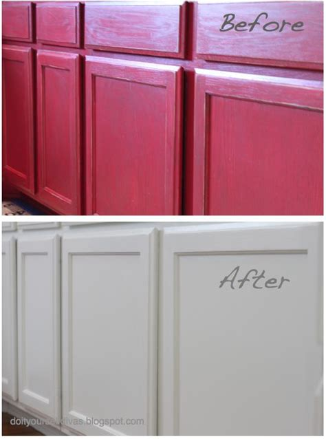 do it yourself cabinet painting do it yourself divas diiy how to paint over red painted