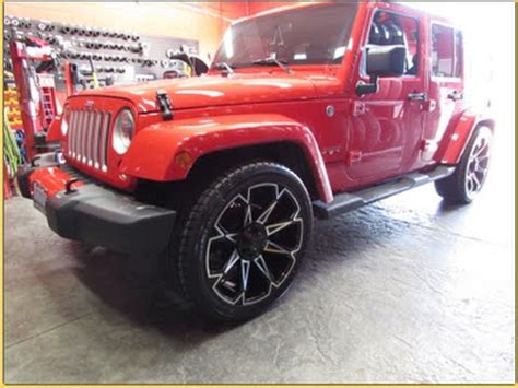 jeep lowered 2016 jeep wrangler sahara lowered riding on 22 inch custom