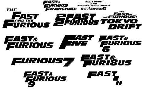 fast and furious font fast and furious logos and sequel logo ideas by