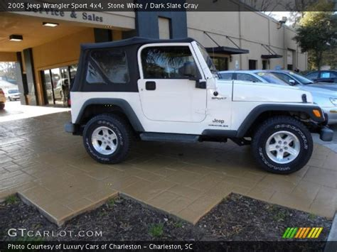 White Jeep Interior by White 2005 Jeep Wrangler Sport 4x4 Slate