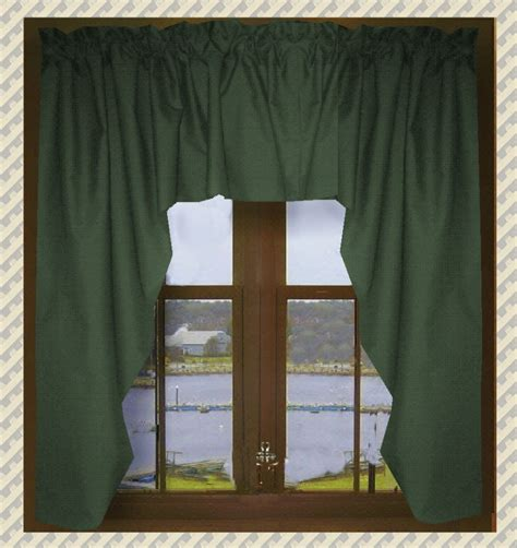 green swag curtains solid hunter green swag window valance