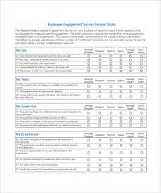 Of Engagement Document Template by Employee Survey Template 7 Free Documents In