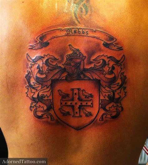 tattoo back family irish family crest tattoo on upper back 187 tattoo ideas