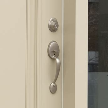 How To Install Exterior Door Knob by Install An Exterior Door Handle Or Lockset 1 Rona