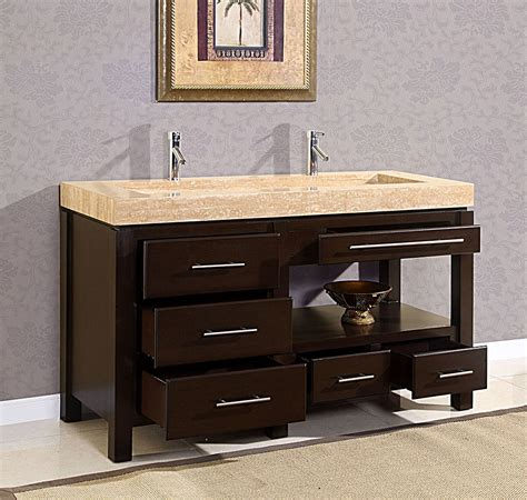 Furniture Attractive Bathroom With Double Sink Vanities Furniture Vanities Bathroom