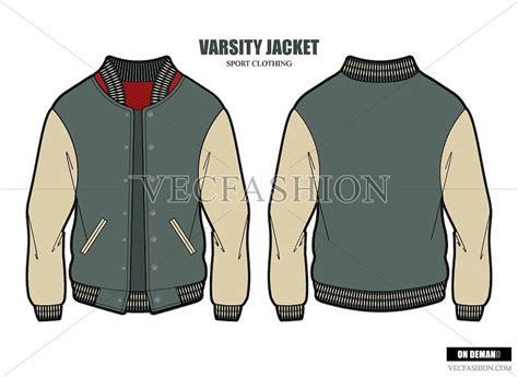 baseball jacket template varsity jacket vector template illustrations