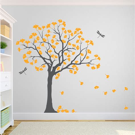 tree wall decals ginkgo tree wall decal