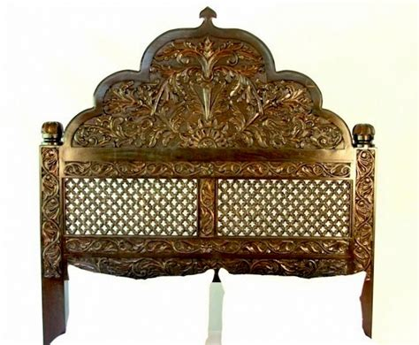 carved wooden headboards carved lattice headboard