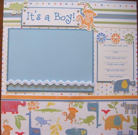 scrapbook layout baby boy baby boy safari 20 premade scrapbook pages so cute