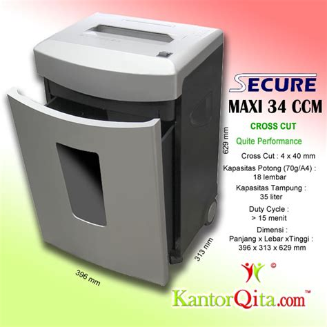 Mesin Penghancur Kertas Cross Cut Shredder Tpr210 mesin penghancur kertas paper shredder secure maxi 34 ccm