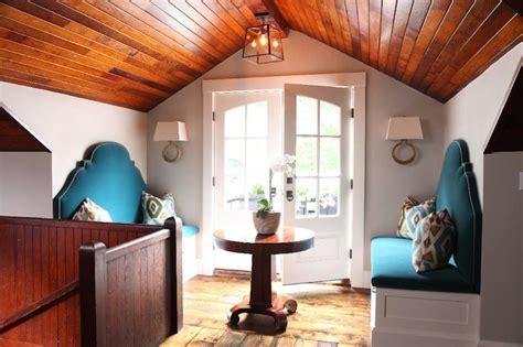 turquoise bench eclectic entrancefoyer liz caan