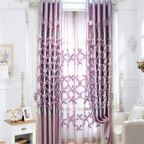 luxury draperies luxury curtains and drapes in purple color in romantic way