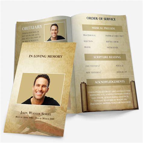 Funeral Program Sle Funeral Program Template Funeral Program Funeral Booklet Template Free