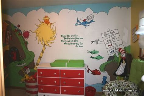dr seuss bedroom baby nursery decor fluffy tree fish wallpaper dr seuss