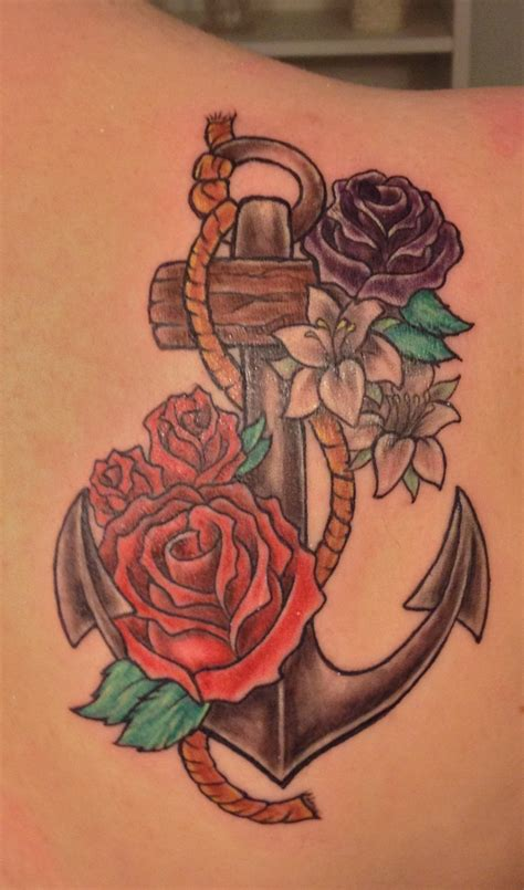 roses and anchor tattoos 33 best tattoos images on tatoos