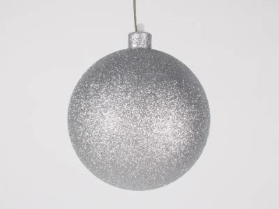 winterland inc glitter ball ornaments 120mm 5 quot silver glitter ornament with wire