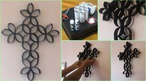 paper crafts wall decoration with toilet paper roll