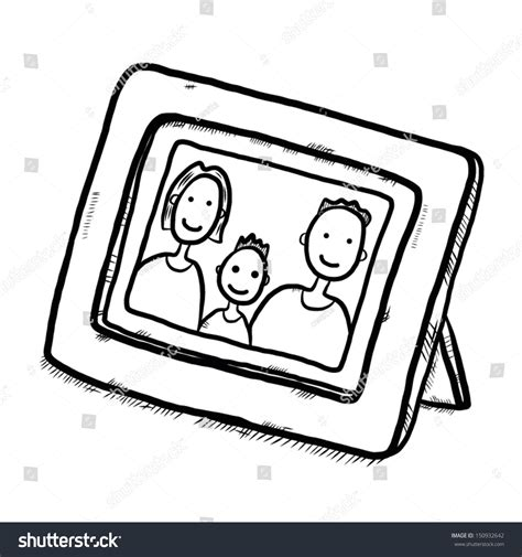 photo clipart family picture in wooden frame there are