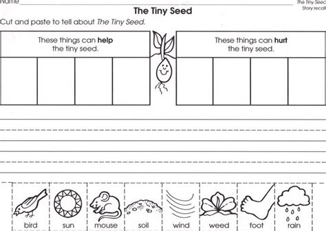Seed Worksheets For Kindergarten by The Tiny Seed Literacy Activities For Kindergarten