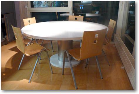 table de cuisine corian ronde crea diffusion