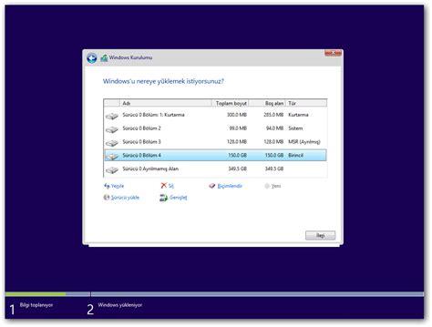 format hard disk uefi temiz kurulum esnasında karşılaşılabilecek disk