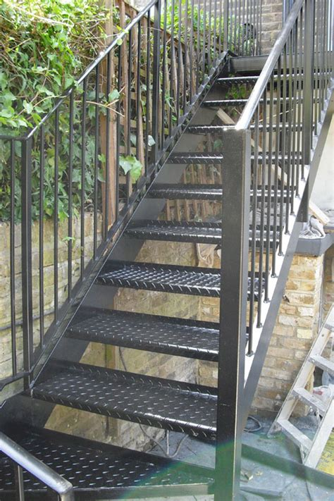 outside stairs steel staircase london hammersmith arc fabrications