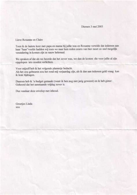 voorbeeldbrief onbetaald verlof werkgever voorbeeld donatie brief the knownledge