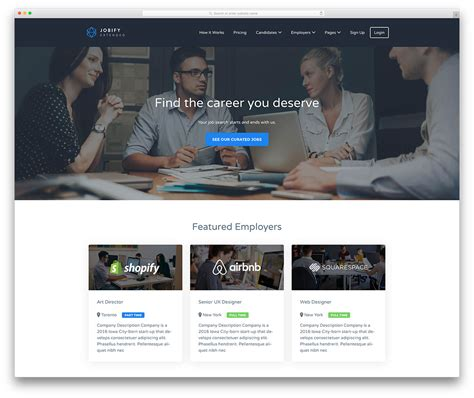 20 Best Job Board Themes And Plugins For Wordpress 2018 Colorlib Board Website Template