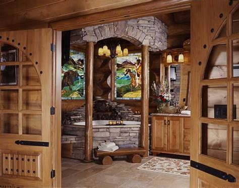 Log Cabin Master Bathrooms by A Log Cabin S Smoky Mountain Master Bath Log Cabins