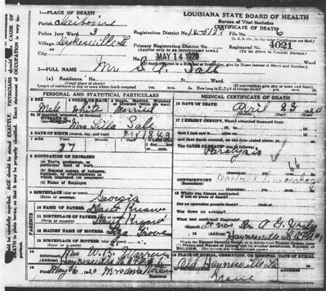 Louisiana Divorce Records Usgenweb Archives Claiborne Parish La Vital Records