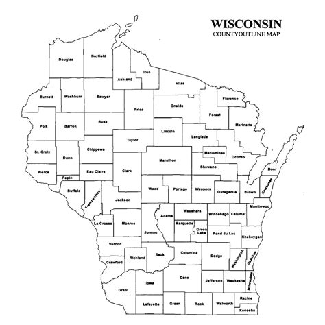 Wisconsin Search Wisconsin County Map Images