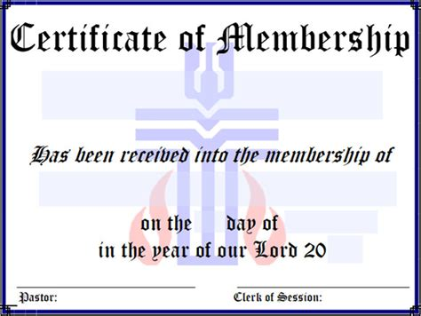 church membership card template sle membership certificate 13 documents in pdf psd